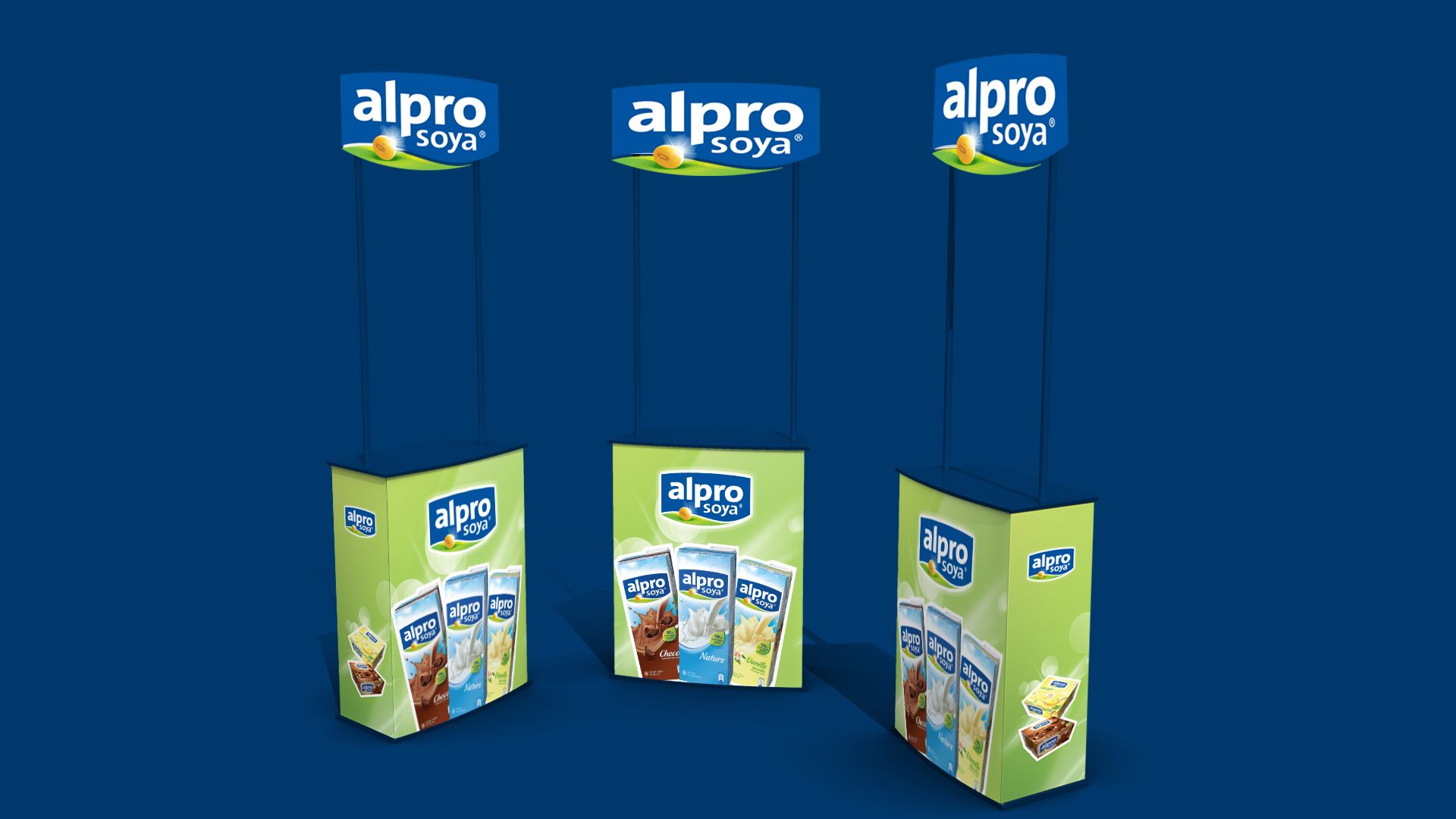 Alpro Soya Tasting Stand Big Idea Branding Amp Advertising