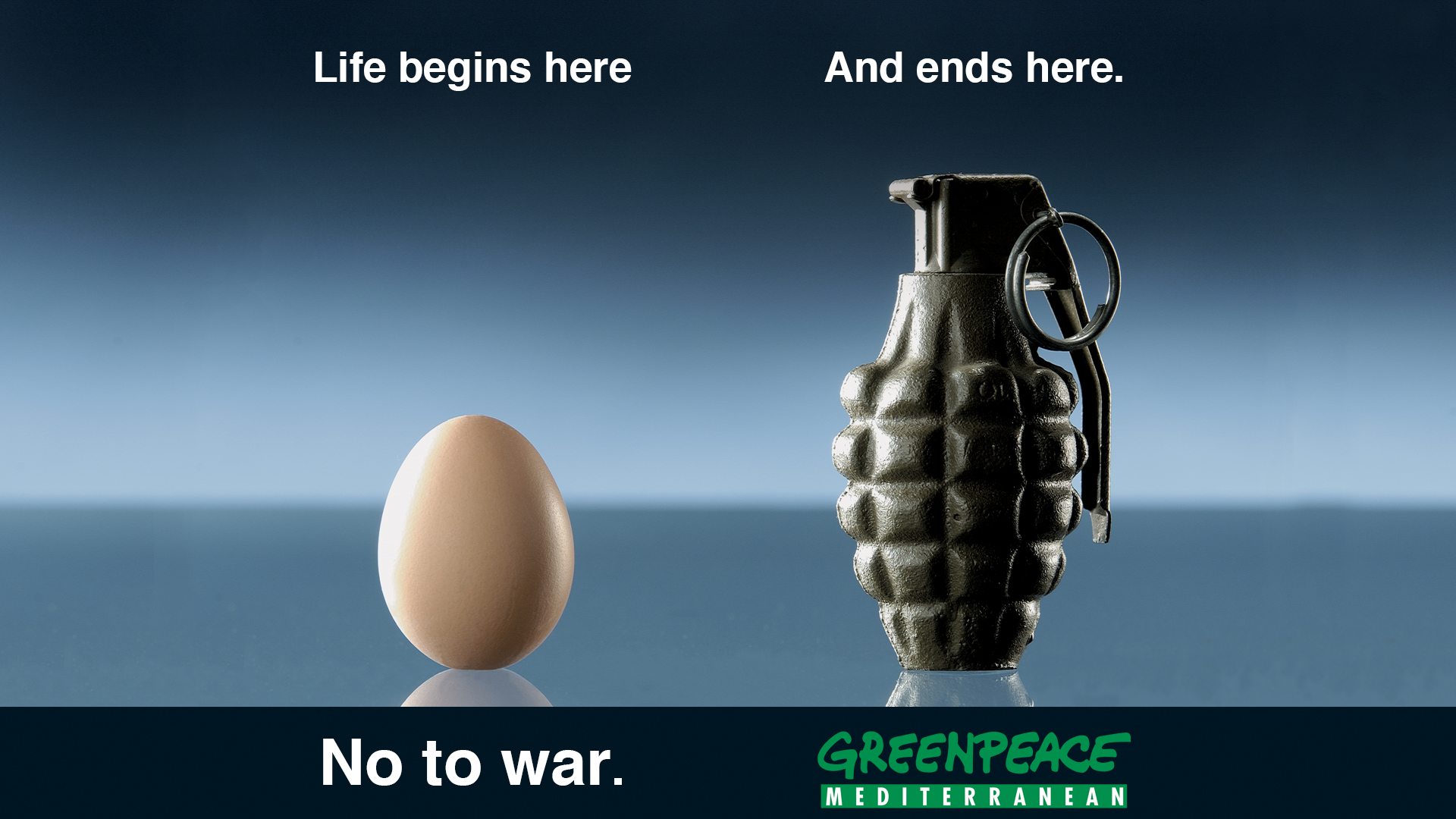 Greenpeace No To War Campaign English Big Idea Branding